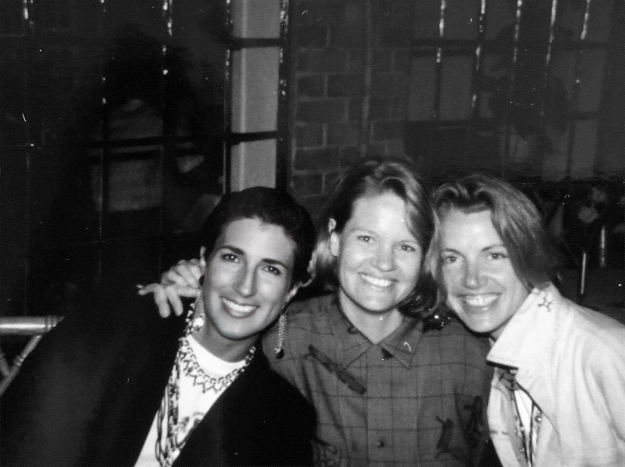 Helen, Jane, and Trish celebrating survival!