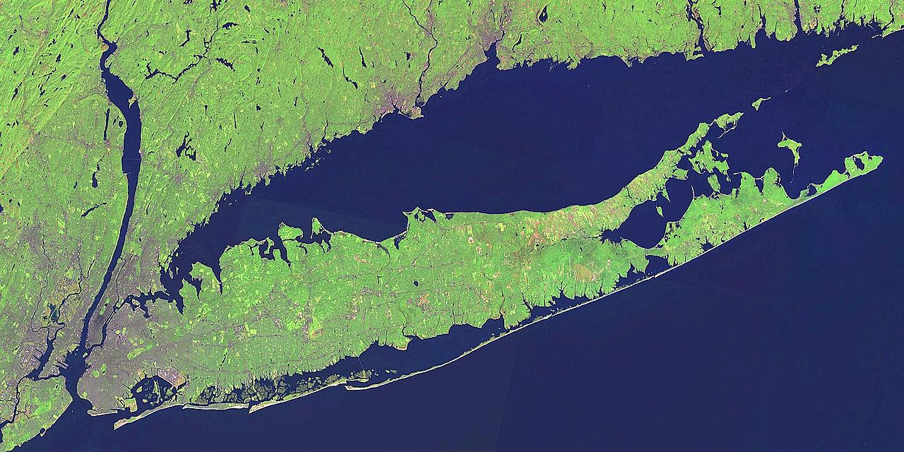 The barrier islands extend from Coney Island on the west, to Brighton Beach, the Rockaways, and east into Long Island