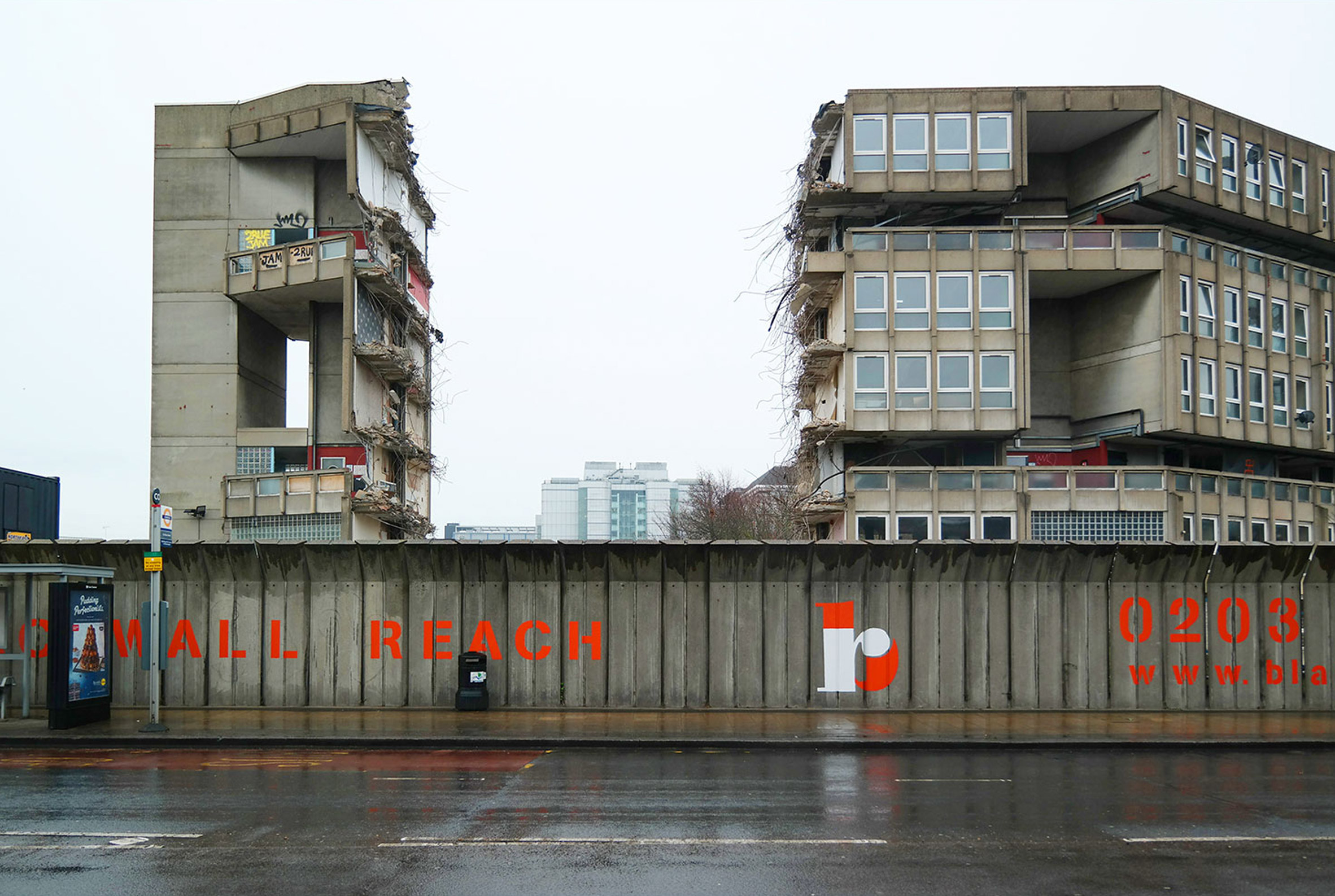 London's Robin Hood Gardens are walled-in for its removal process, which Dezeen also captured on film. Photograph is by Oliver Wainwright.jpg