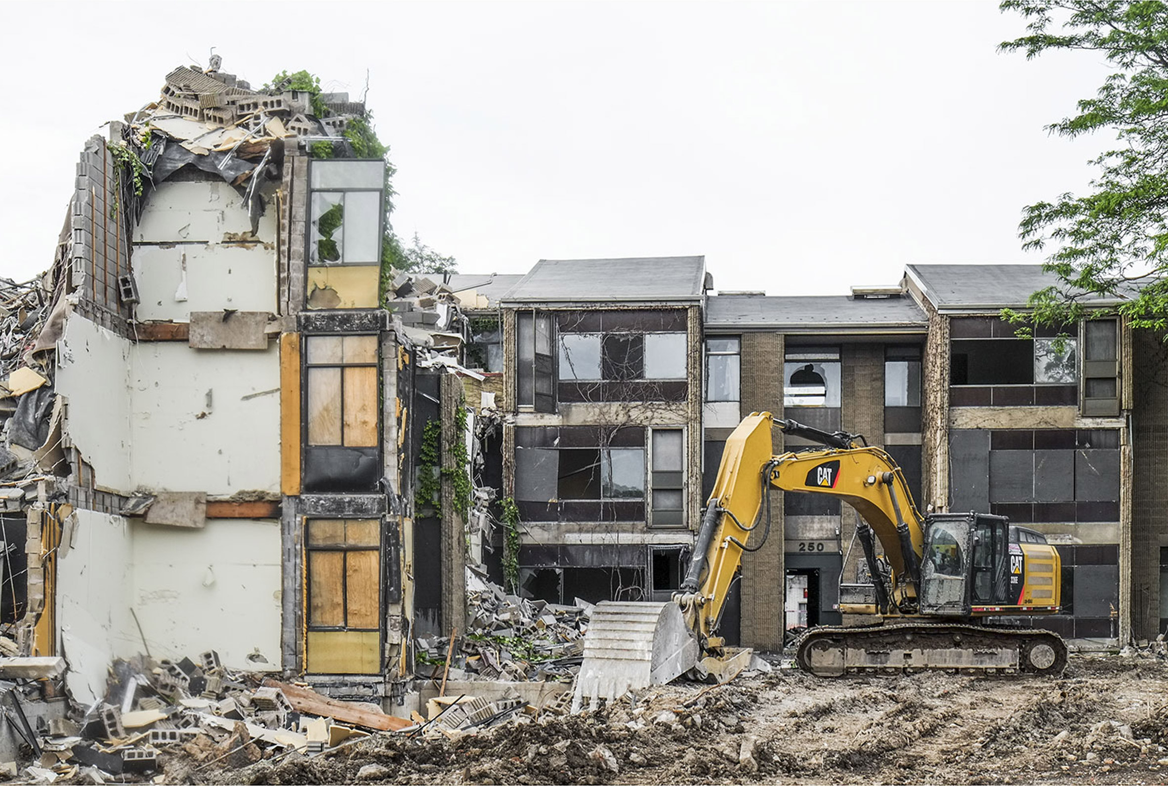Construction has started on the destruction of Shoreline Apartments in Buffalo by American architect Paul Rudolph. Photograph is by David Torke..jpg