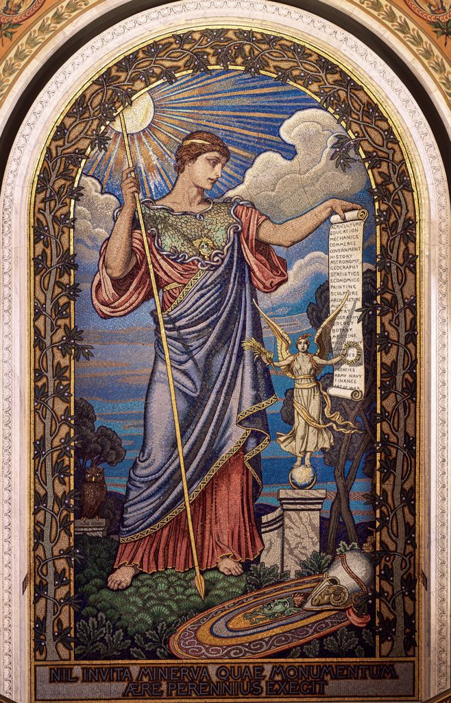 Goddess Minerva, Library of Congress