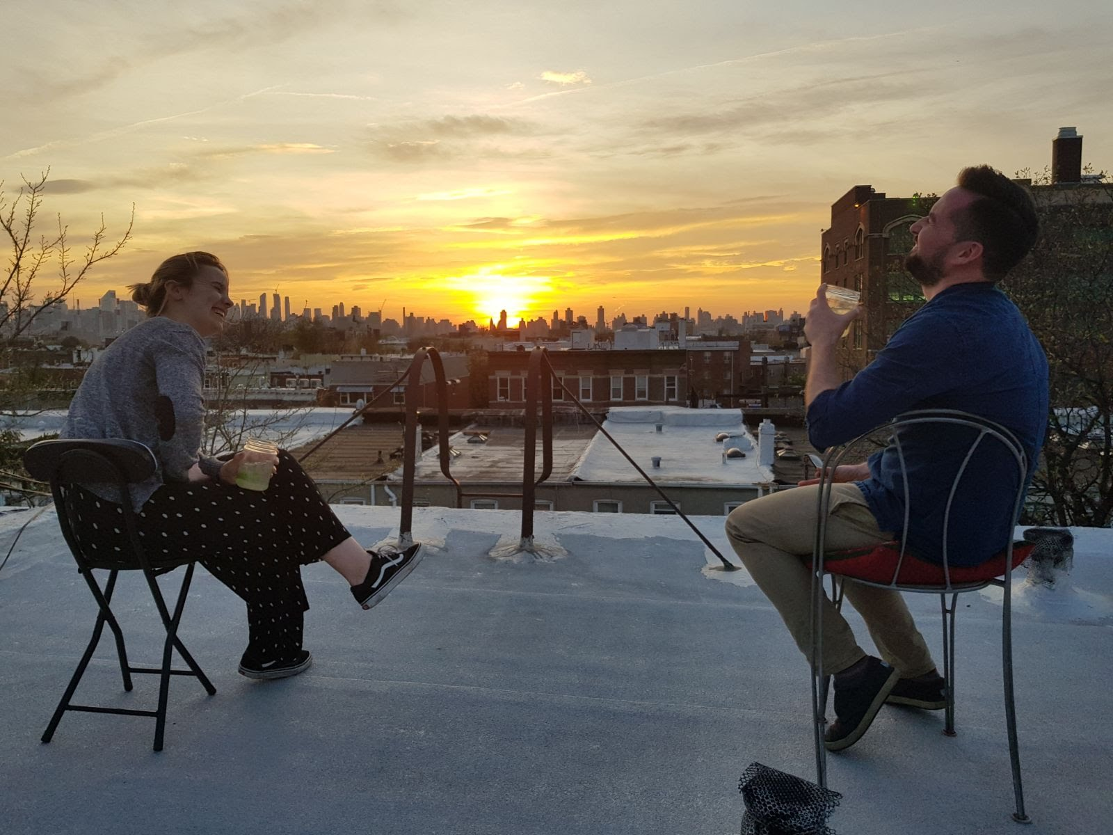 Rooftops are coveted in NYC during golden hour.
