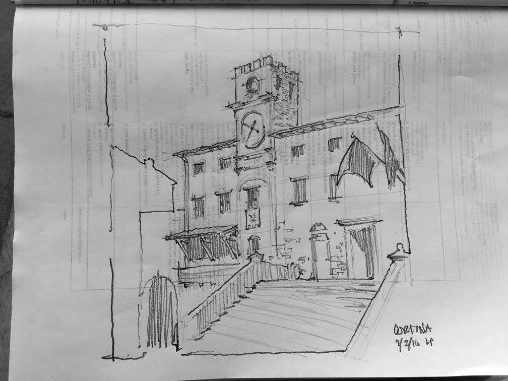 A sketch my dad did of the building.