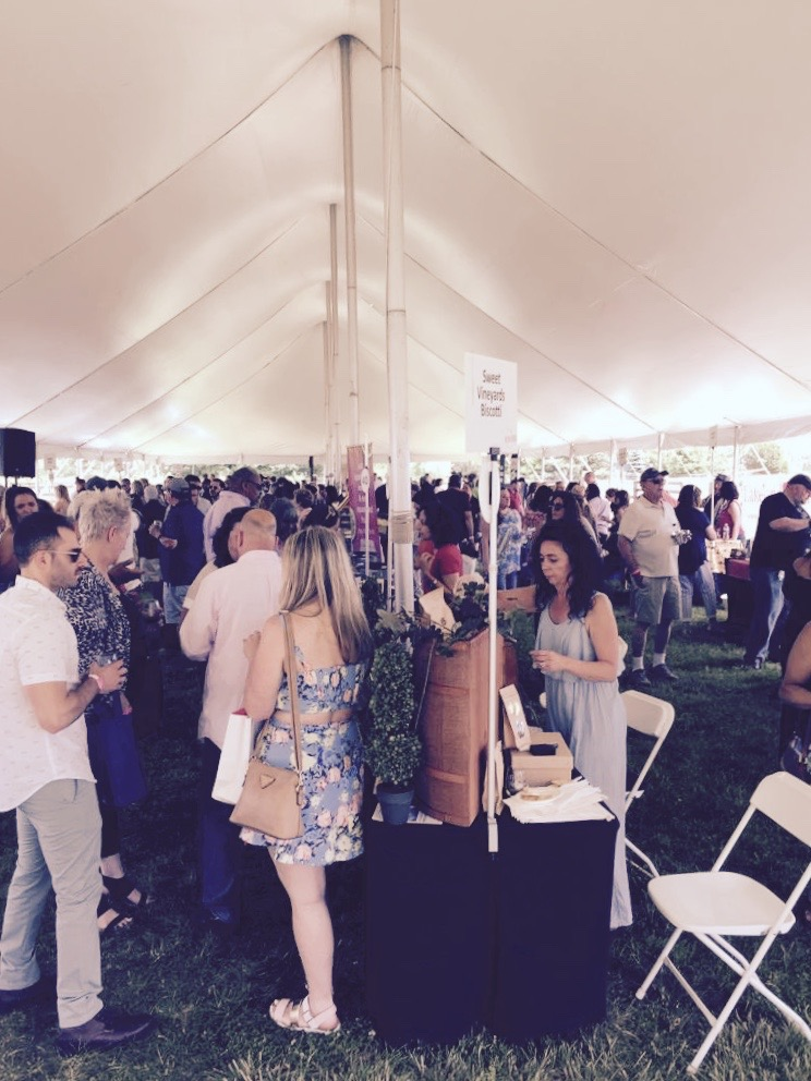 Guests enjoying their wines from all round North Fork at the North Fork Crush 2019.