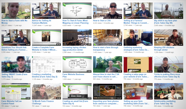 farm marketing youtube
