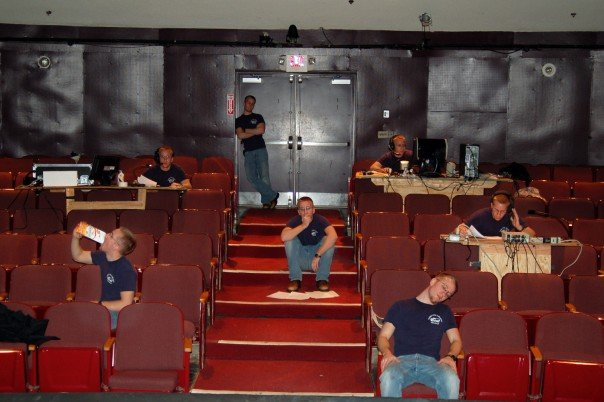 At the time I thought I was quite clever with Photoshop. Not much has changed. I was designing the set for a play at the University of Connecticut and was burning some late night oil when this happened. Jack of all trades.