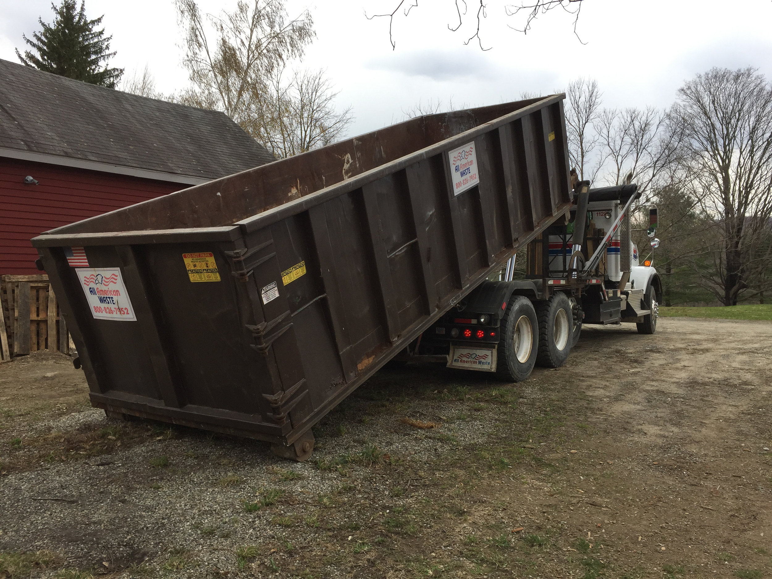 Once the first dumpster came I should have kept filling them until i was done. I couldn't tell you how many we've filled over the years. The lesson learned is keep pitching things out until you're done, don't spread it out over time.