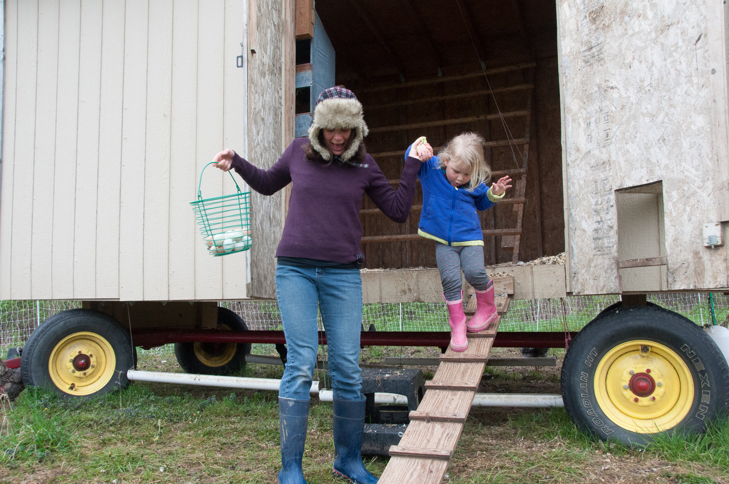 Everyone helps with chores.