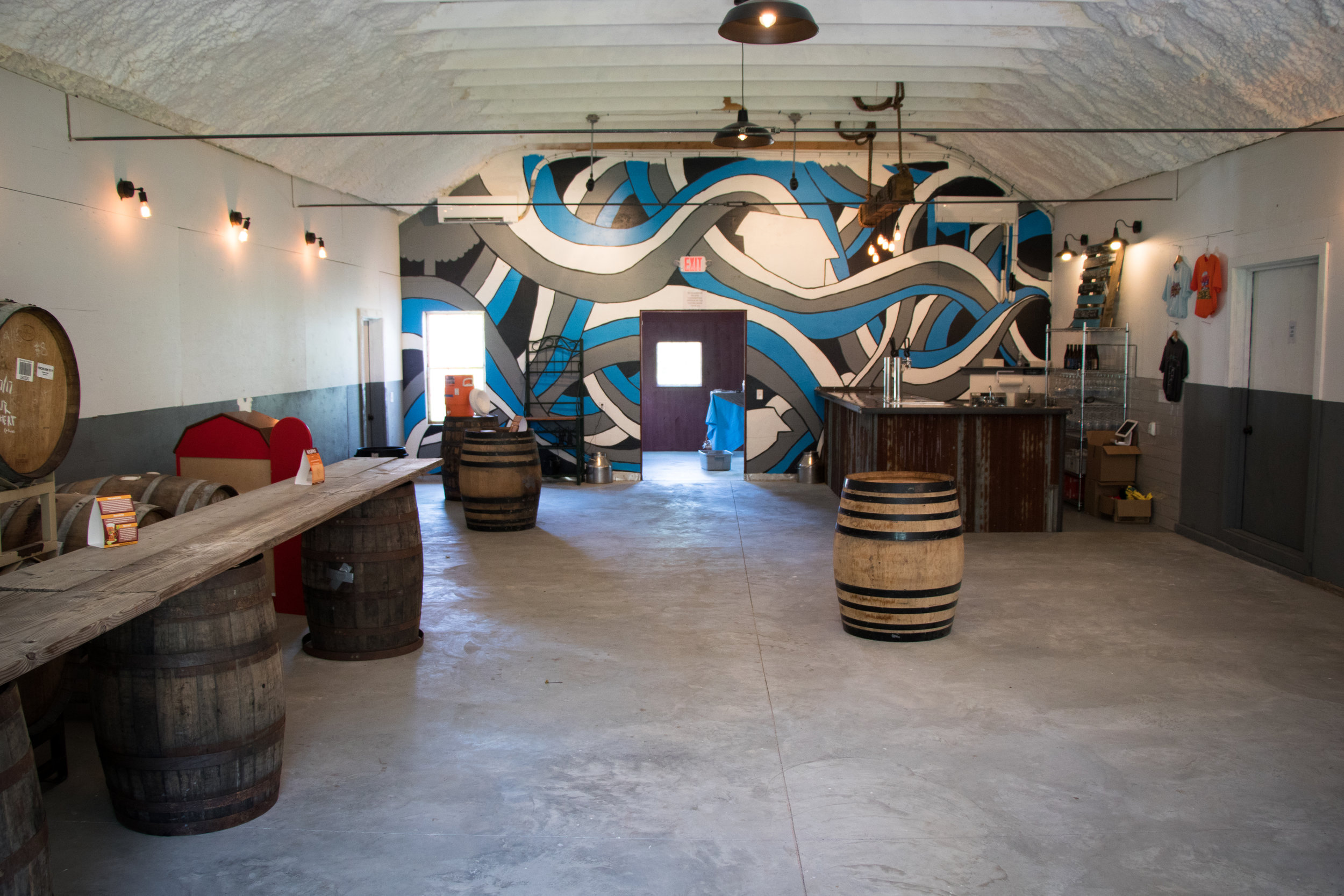 A sneak peak at what our tasting room looks like now.
