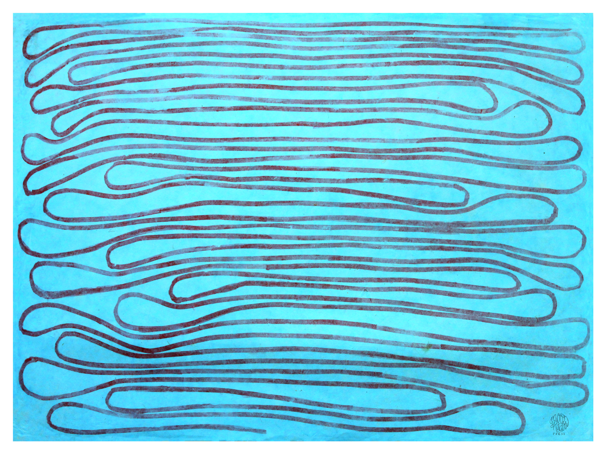 Follow a Line of Thought (monotype)