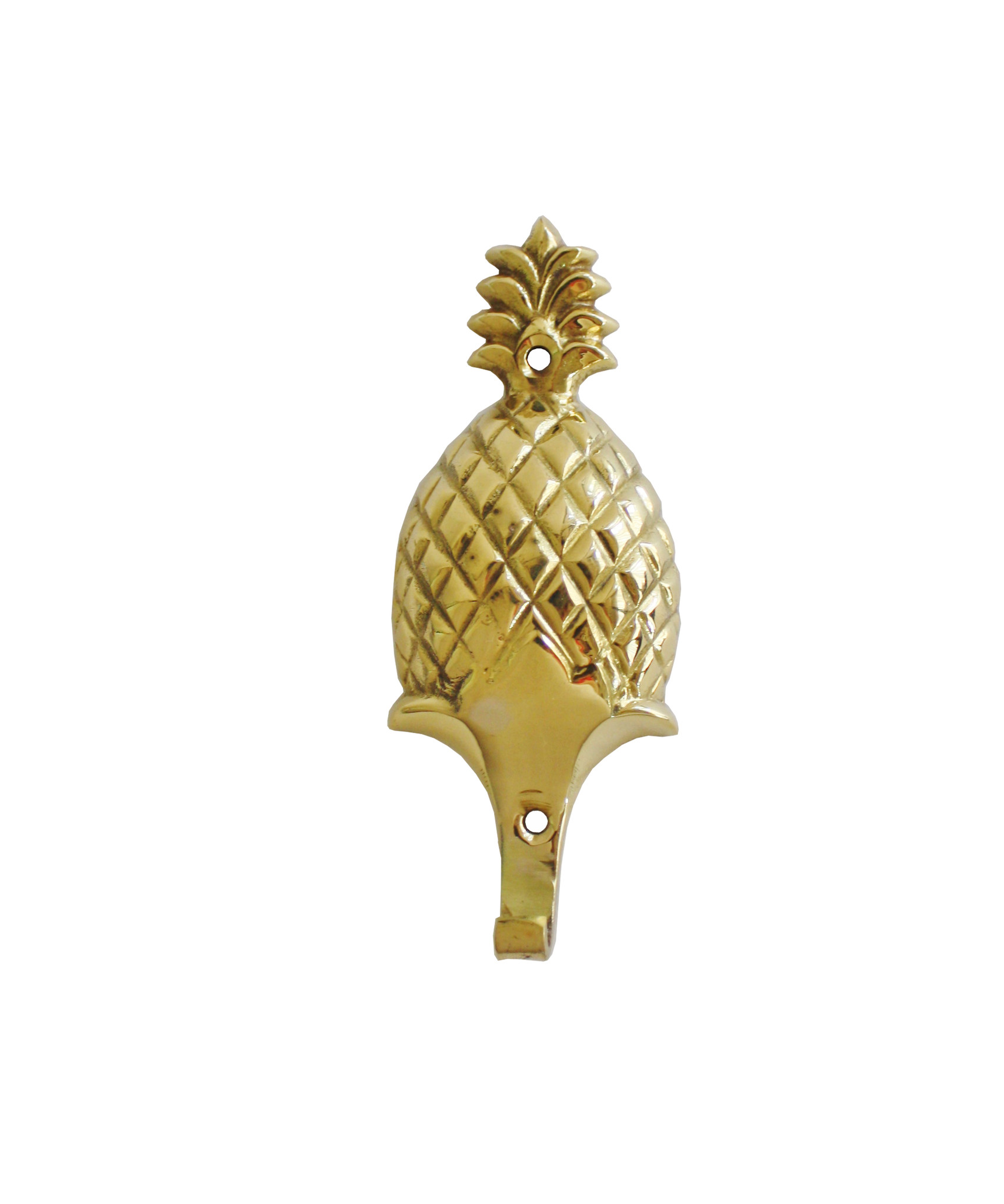 The Pineapple is the international sign for 'Welcome.'  So, why not put these hooks up in your entry way?!