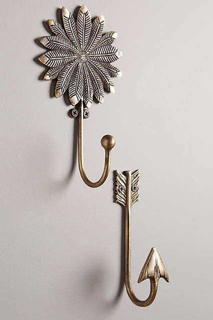 Arrows are so cool - I find this hook to be an unexpected way of incorporating arrows into your decor.