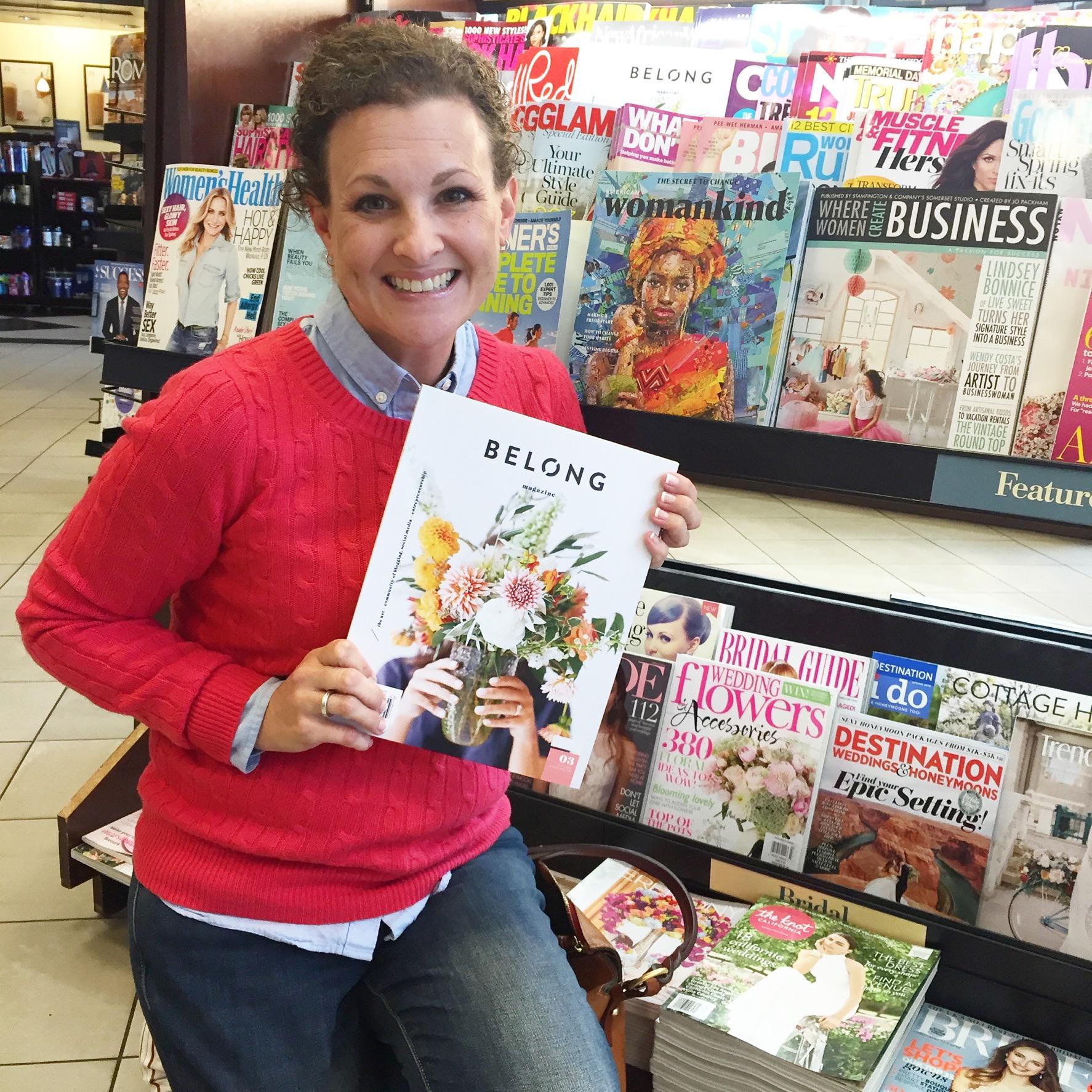 Brooke Saxon-Spencer and Belong Magazine at Barnes and Noble