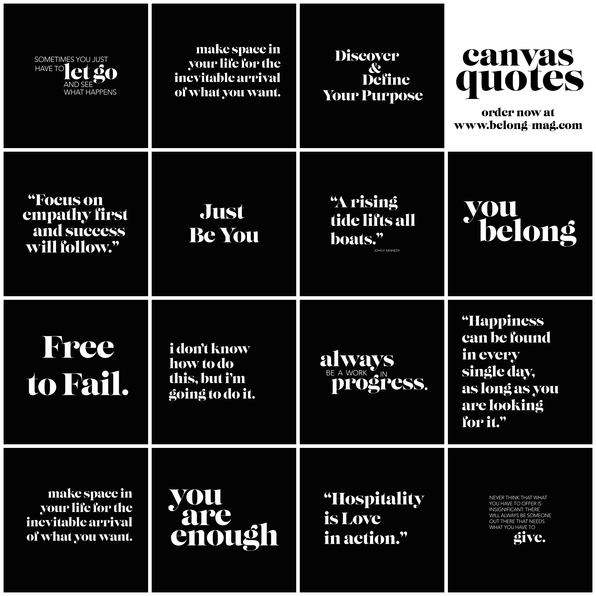 belong magazine instagram quotes on canvas