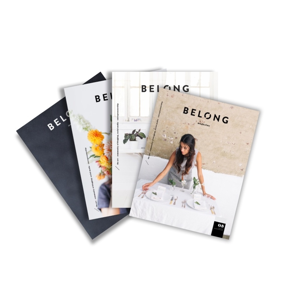 belong magazine quarterly subscription / print edition or digital edition