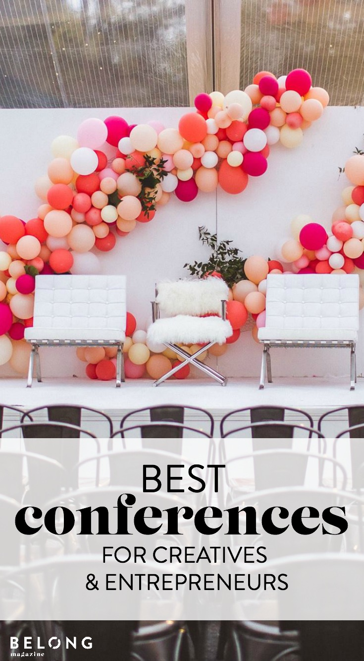 13 best conferences, workshops or retreats for female creatives and entrepreneurs, women in business, lady boss, femalepreneur, blogger, artist