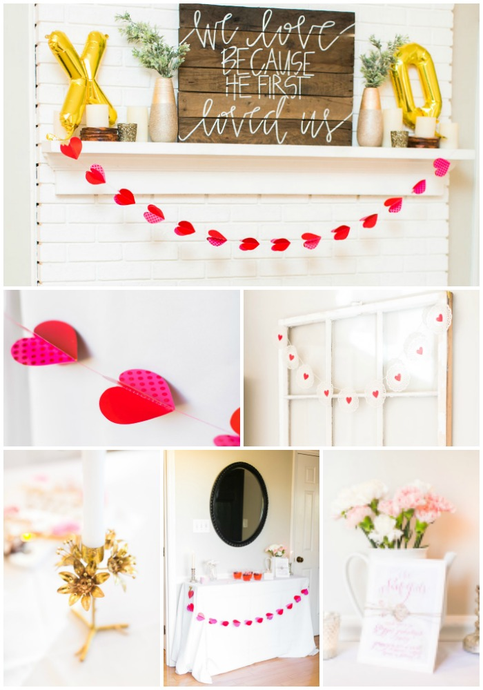 Galentine's Day with The Nook Girls - celebrate Valentine's Day with girlfriends like this gorgeous party with decorated sugar cookies, flowers, garlands and more