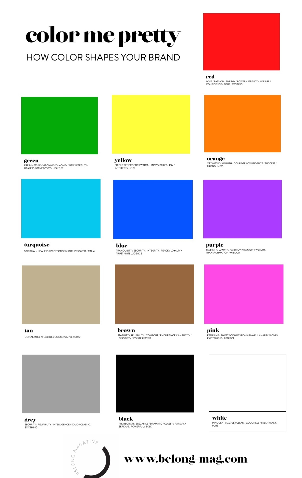 color me pretty / how color shapes your brand - a little about color theory for female entrepreneurs, lady bosses, women in business and creatives