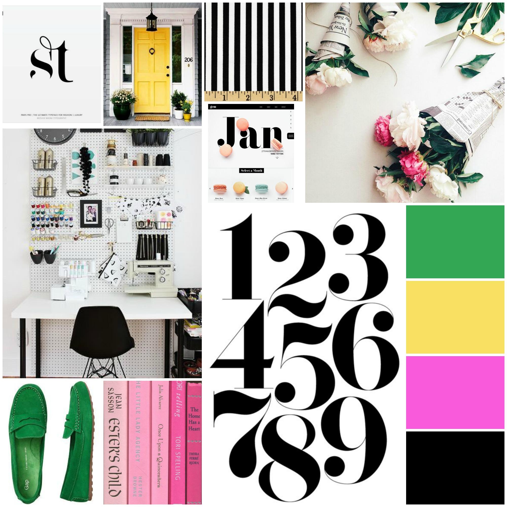 Belong Magazine Brand Inspiration Board - fonts, colors, graphics, design, logo
