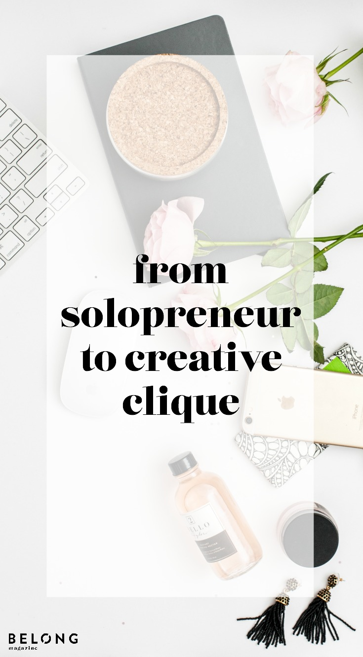 solopreneur to creative clique by Anastasia Casey of IDCO as featured in Belong Magazine ISSUE 10