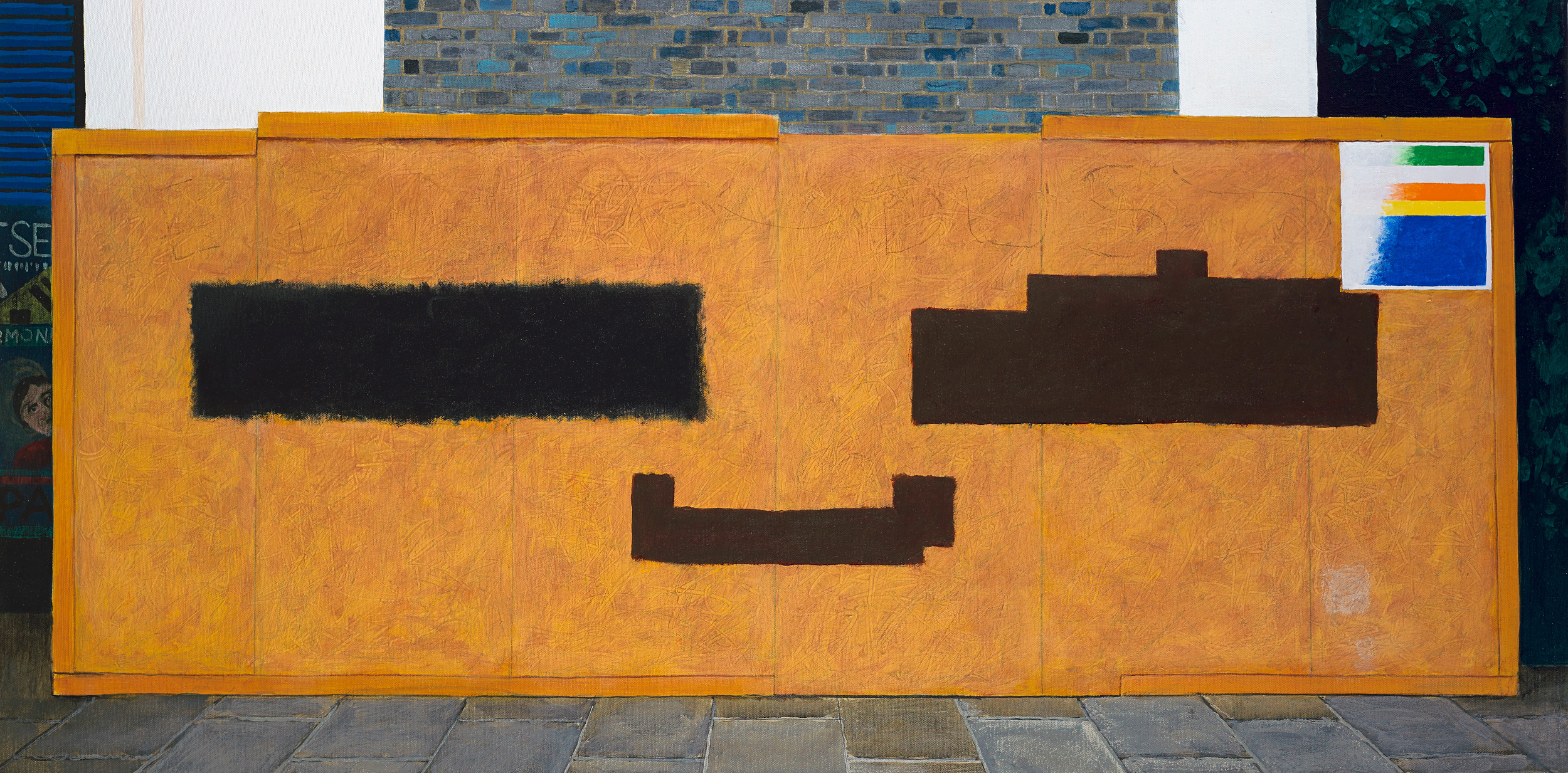 Malevich and Serra Try Out a Smiley Face At Loughborough Junction