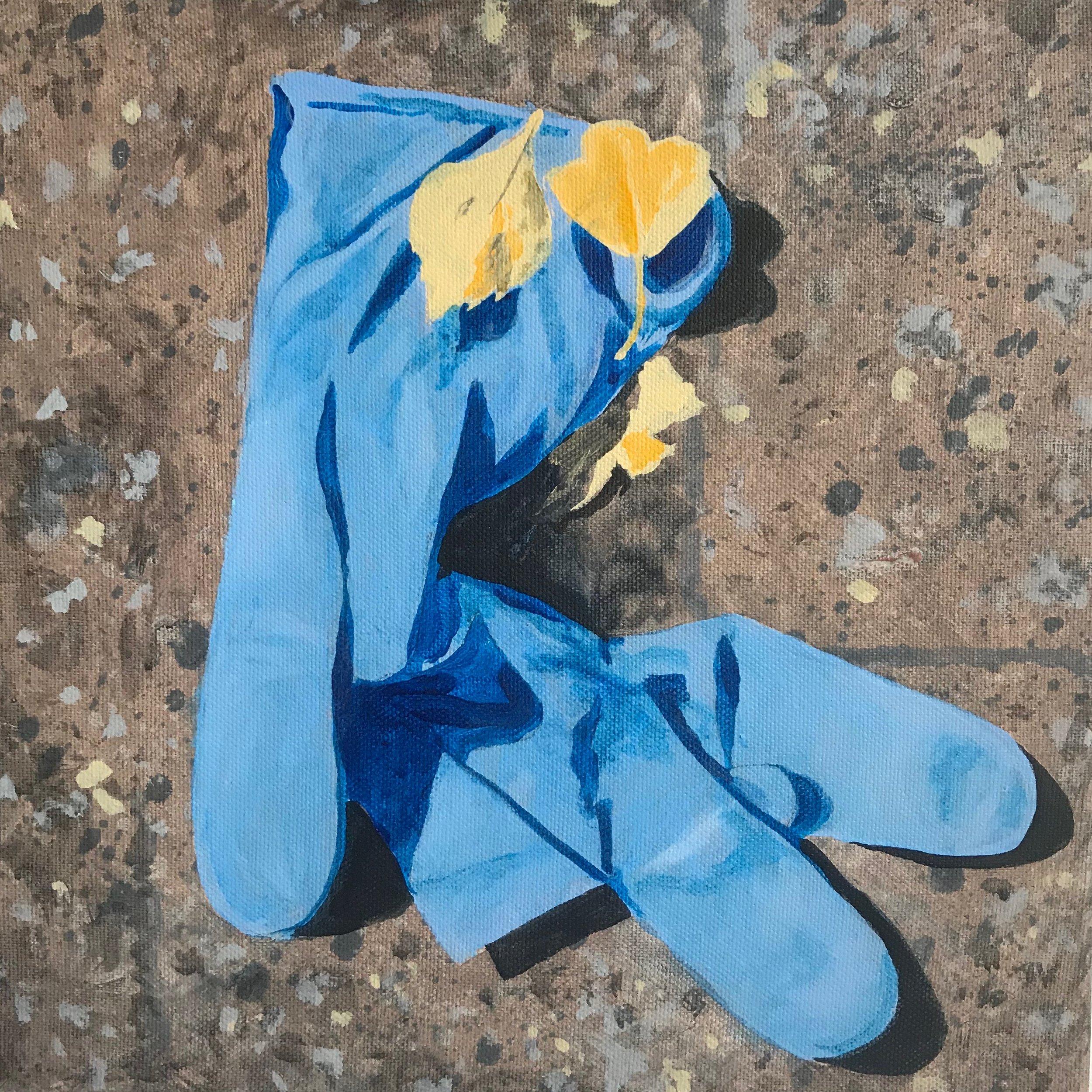"""Glove No.2  12""""x12"""" 2017"""