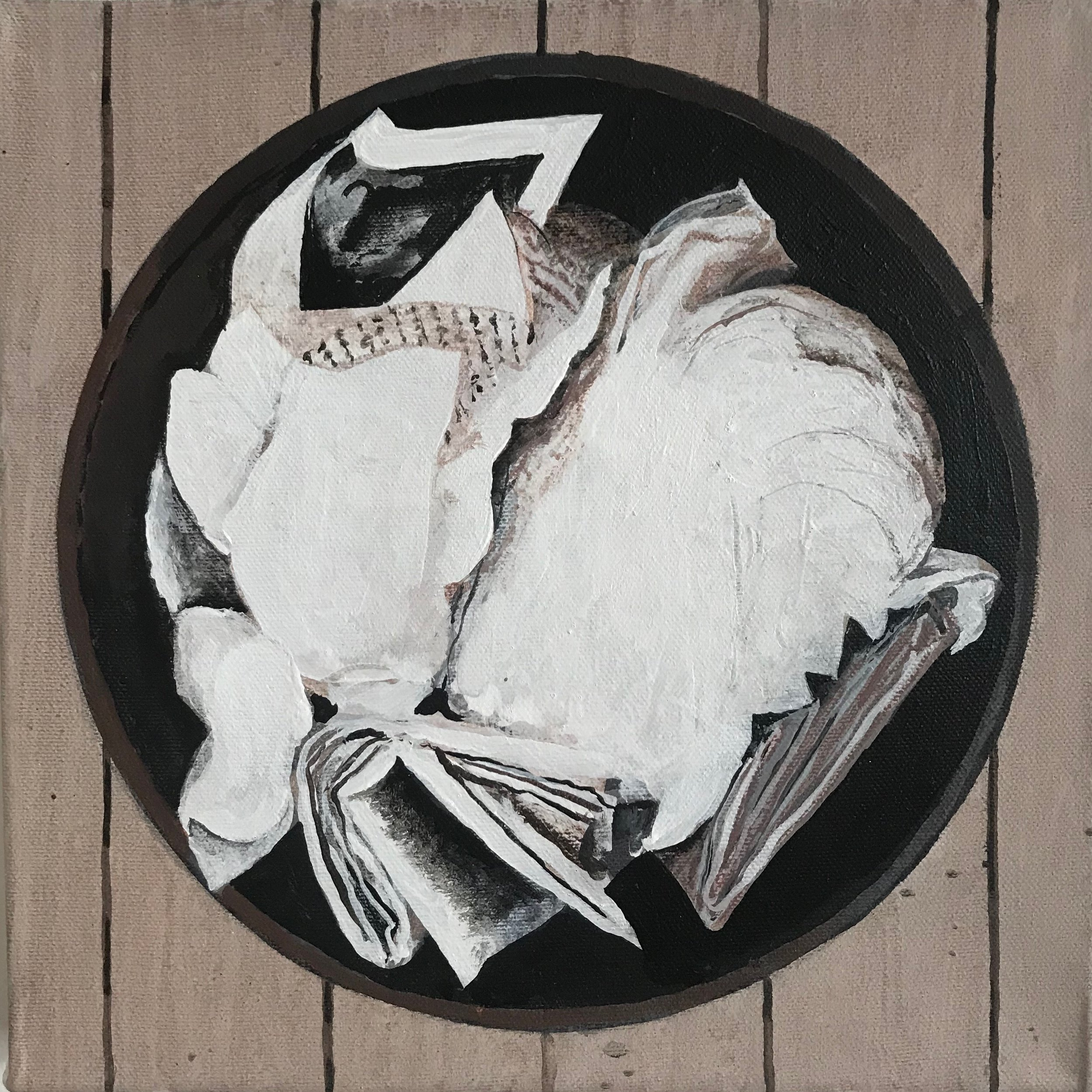 """Rubbish Recycle Mandala No.7  10""""x10"""" 2018"""