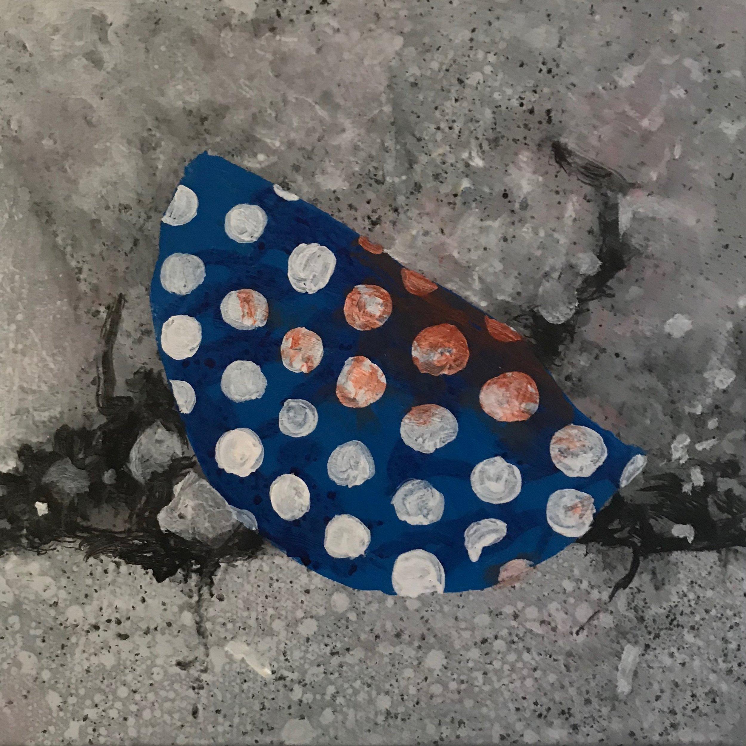 """Spotty Rubbish  8""""x8"""" 2017"""