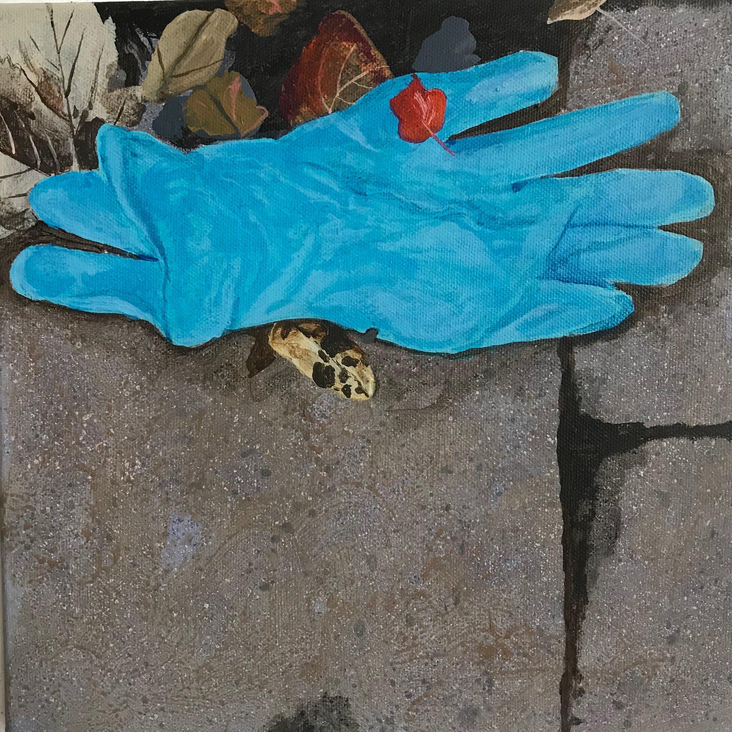 """Glove No.1  12""""x12"""" 2017"""
