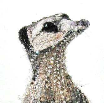 Beaded Meerkat (Detail)  |  Photography Susan Horth