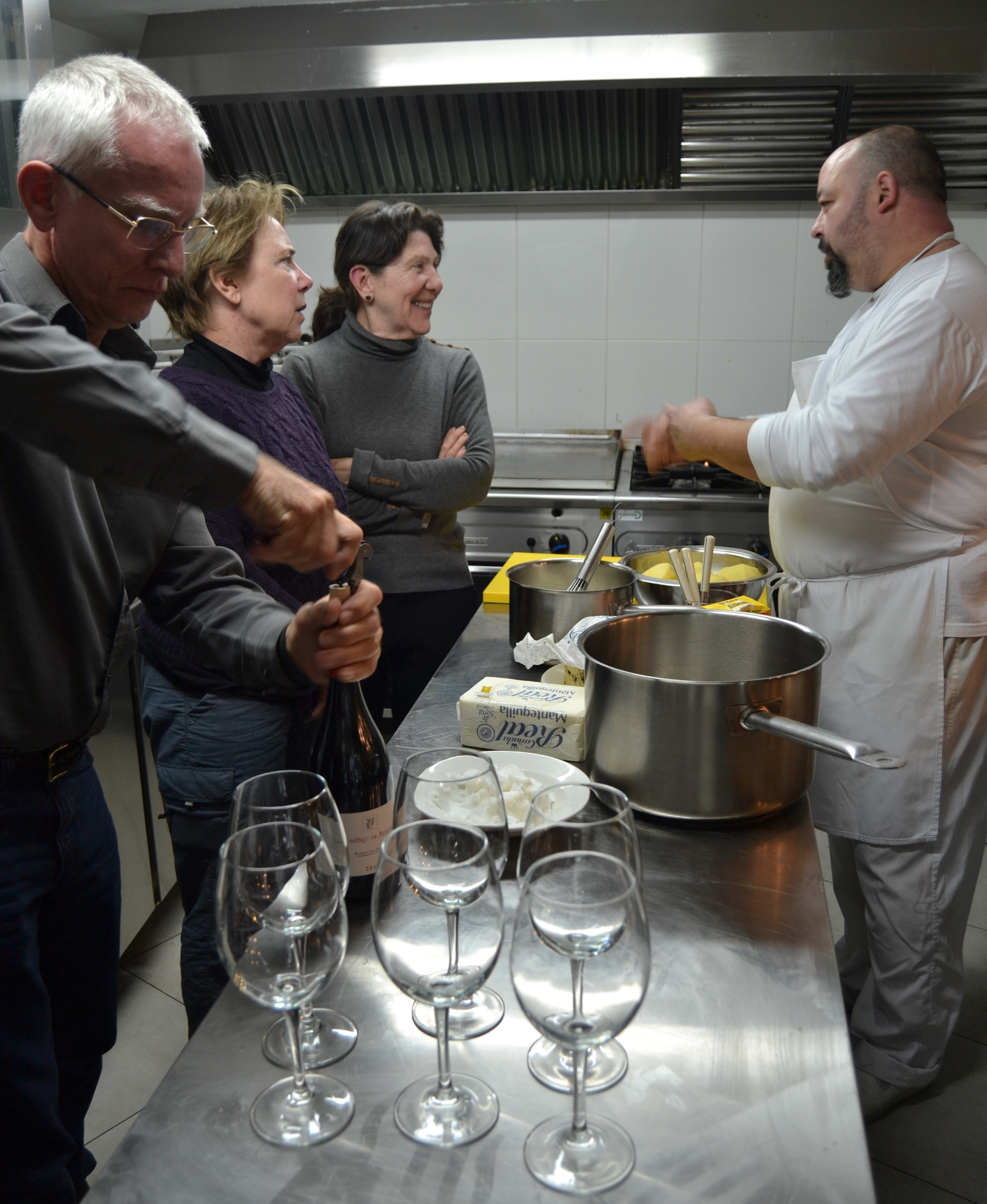 Hanging out in Eduardo Tejedor's kitchen in Lan Candela in Soris is always a delicious education.