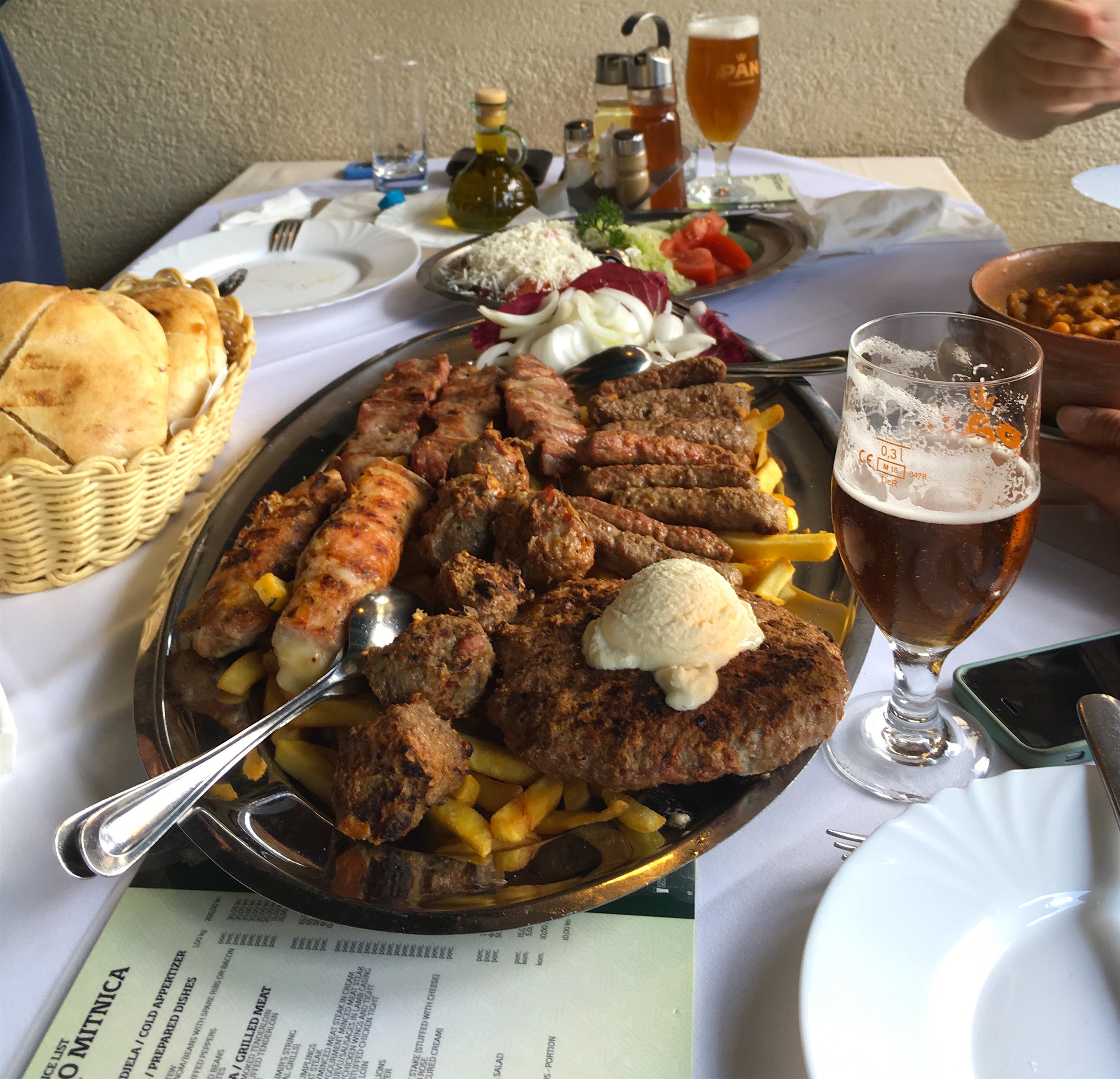 Feasting on traditional cuisine is a highlight for visitors to Croatia.