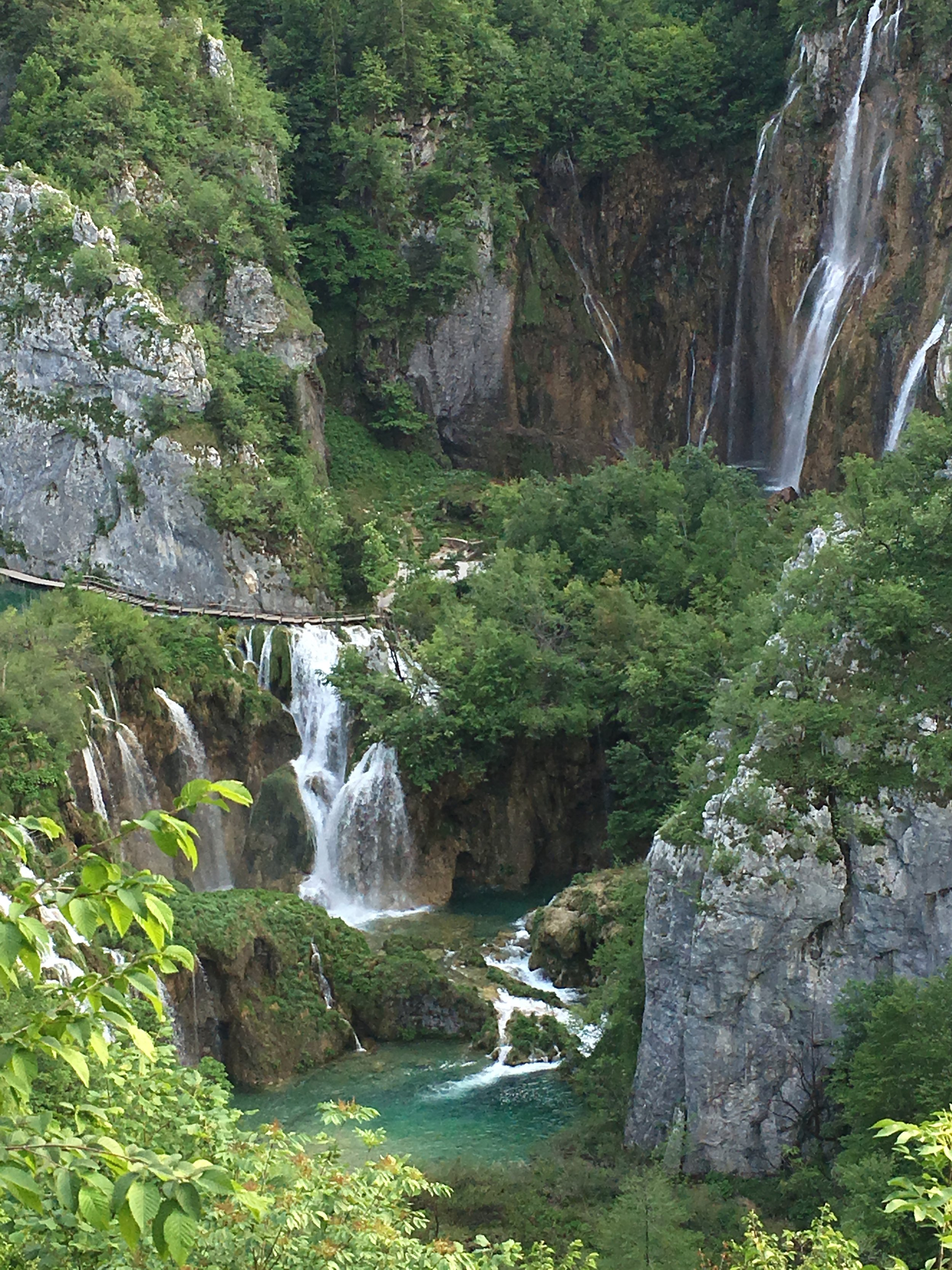 A spectacular view of Plitvice lakes.