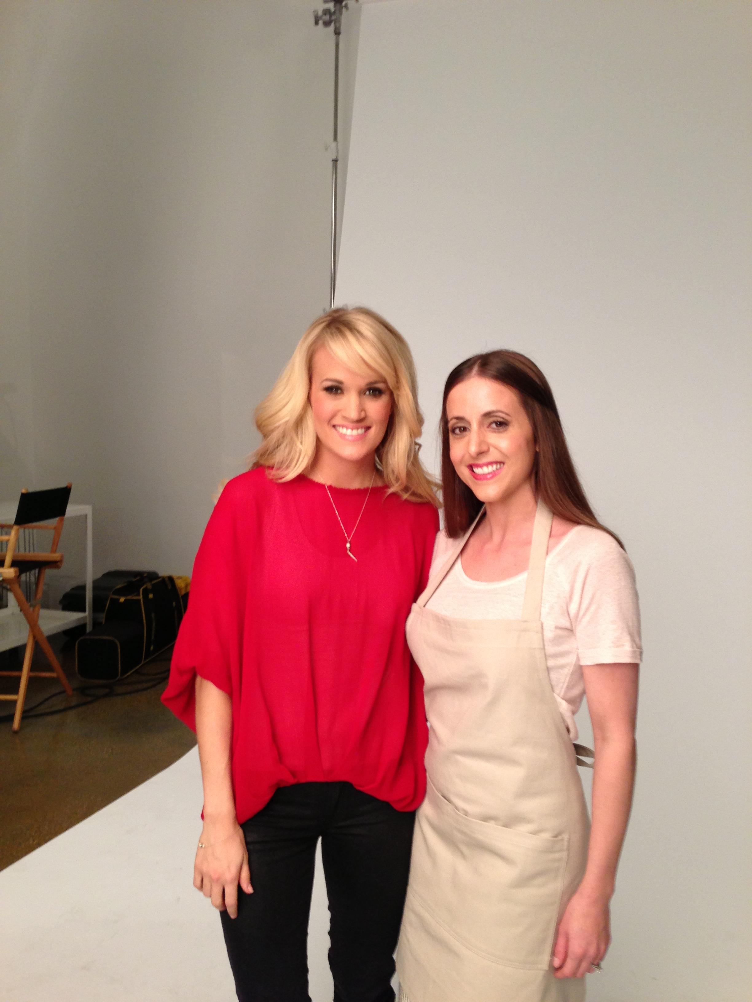 LeeAnn with Carrie Underwood on set