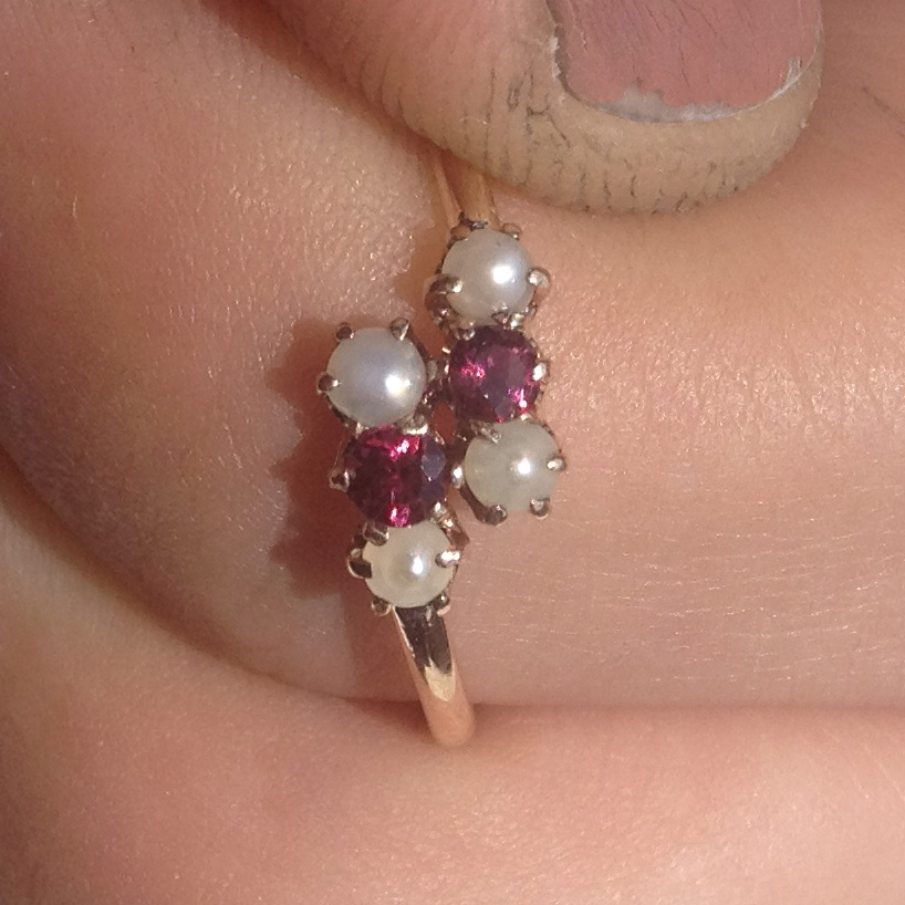 Missing Stones - Garnet Ring After