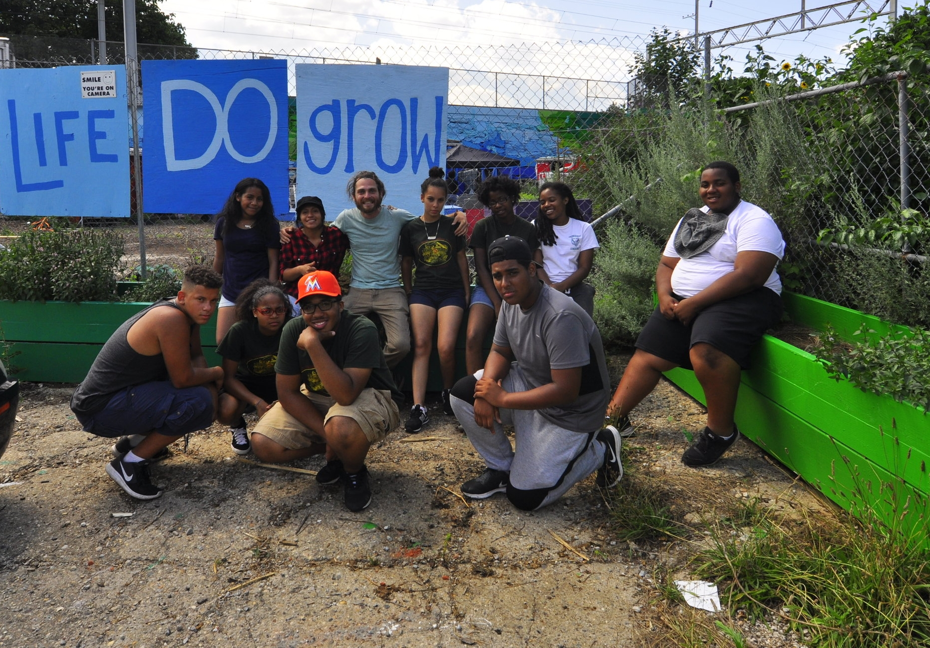 In July, the summer crew visited Life Do Grow Farm in Philadelphia!