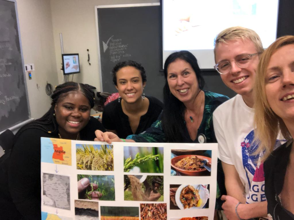 Picture from Tracing and Reclaiming Southern Crops workshop. Left to right: Nefratia Coleman,  Red Hook Farms; Electra Jarvis, Green Food Solutions; Christina Delfico, IDig2Learn; Alex, and Mary Wetherill - Green Food Solutions.