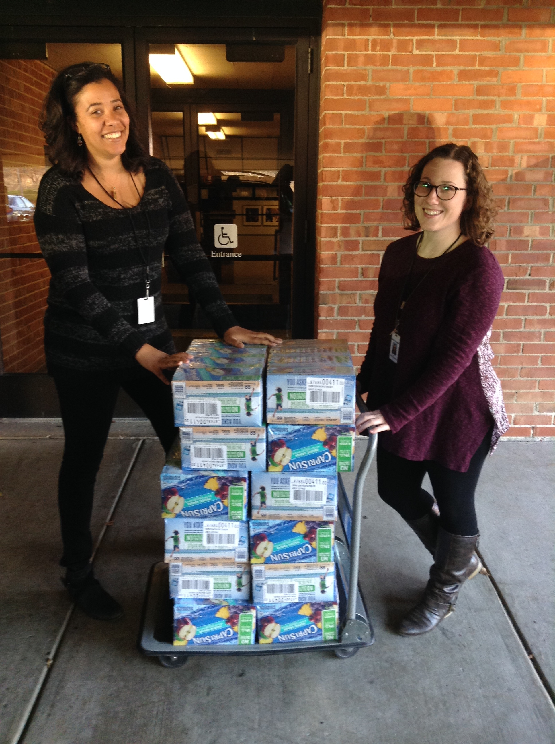 Thank you to our friends at  WTTW - Chicago PBS  for their donation of 500  Capri Sun  juice pouches!