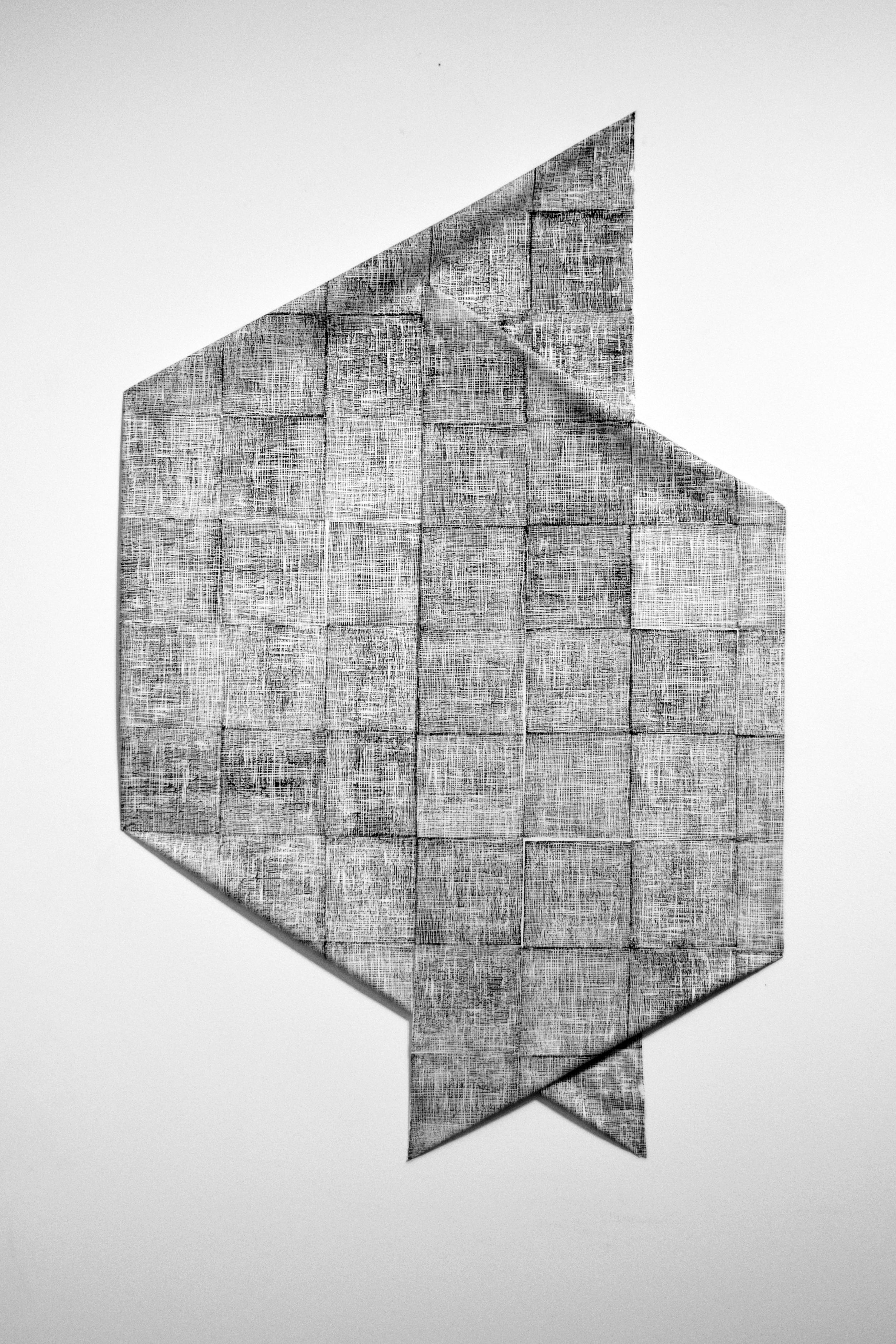 Document (installation), 2015, draped fabric