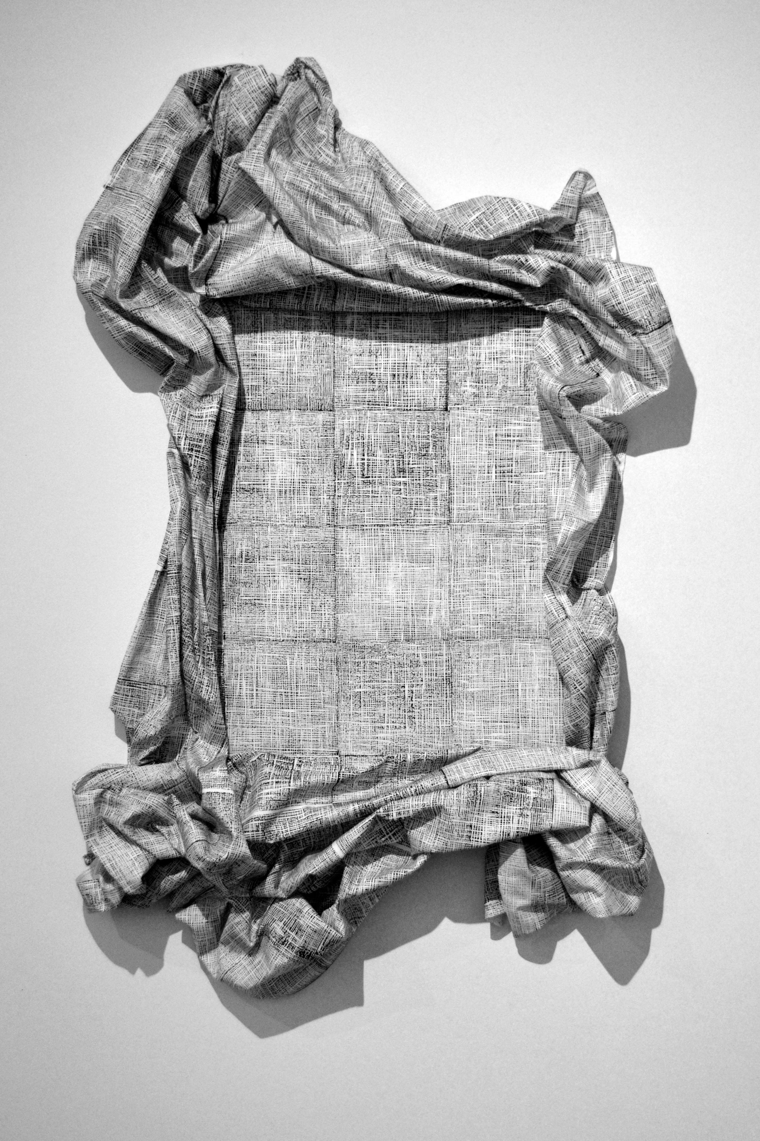 Inverse (installation), 2015, draped fabric