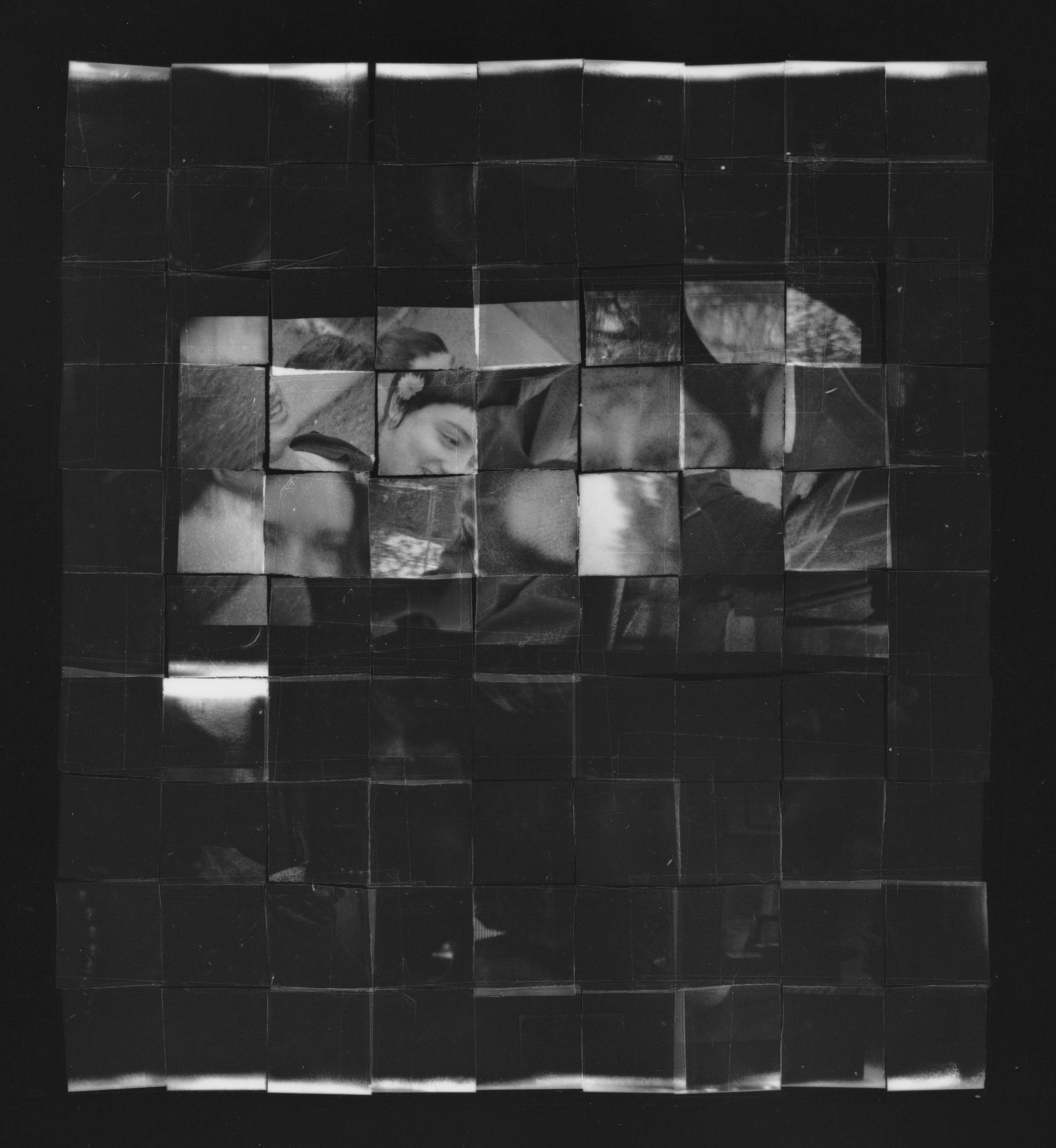 Negative quilt, 2018, gelatin silver print