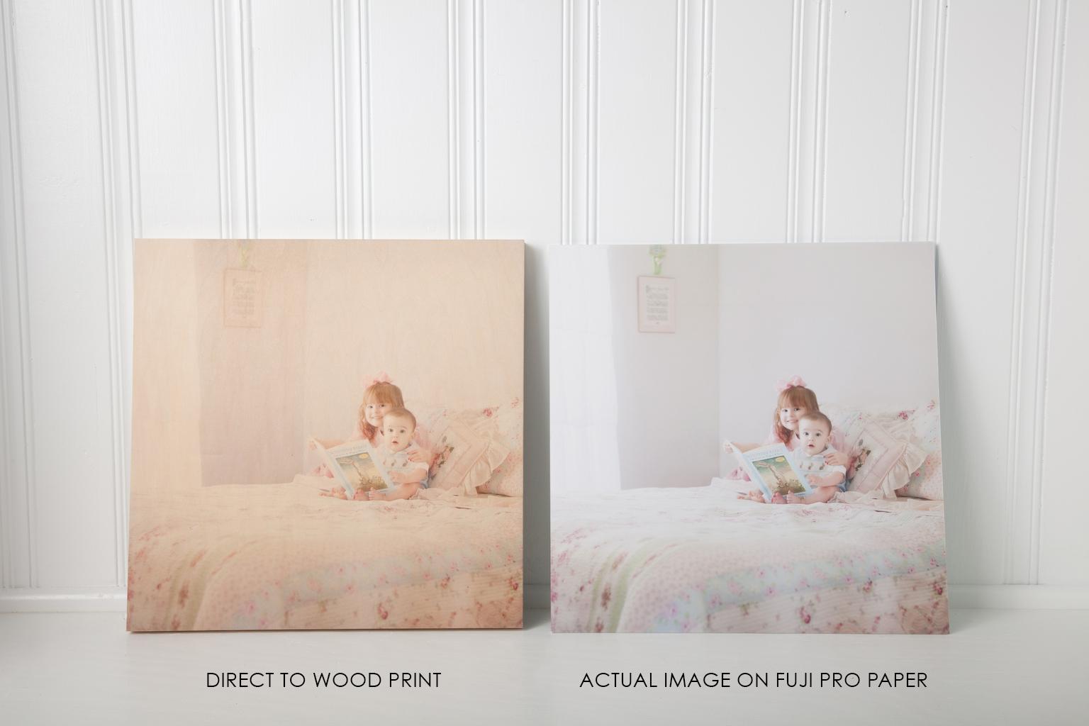 Direct To Wood Photo Print vs Fuji Pro Print