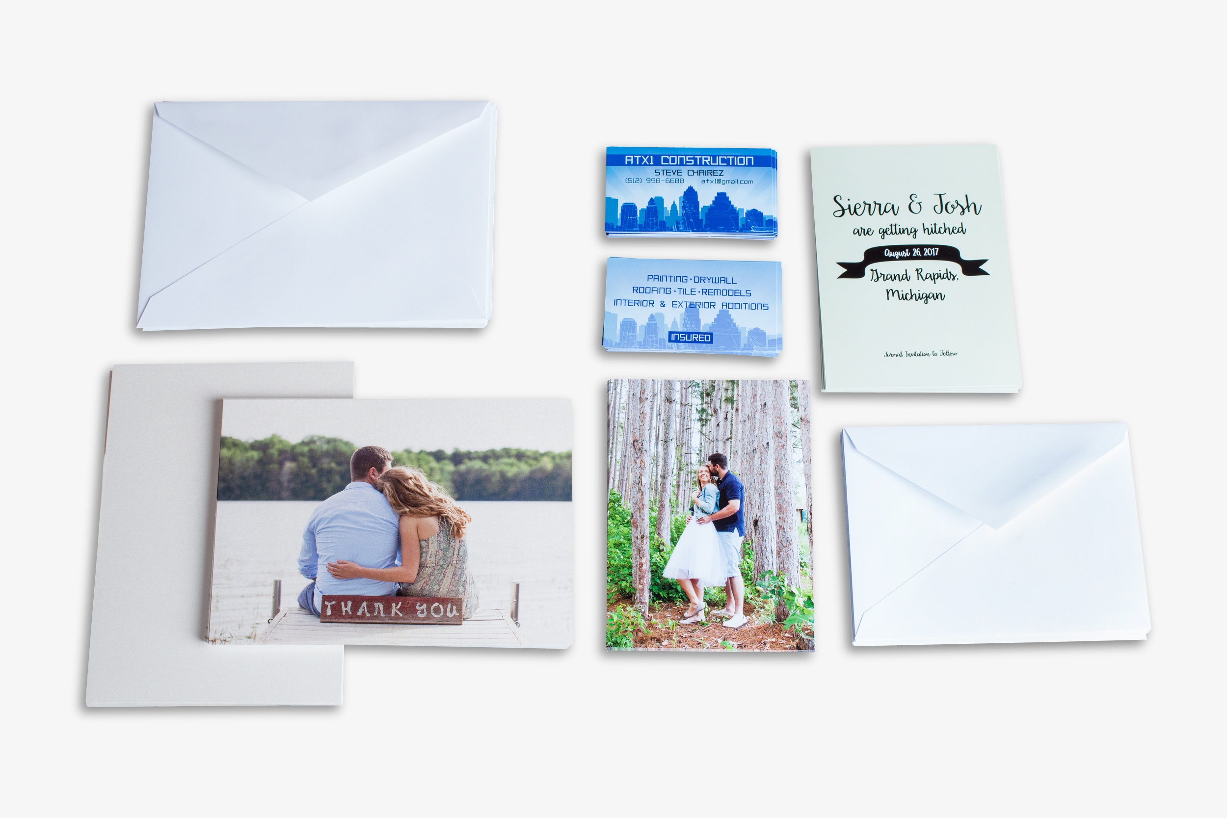 Press Printed Business Cards, Press Printed Greeting Cards
