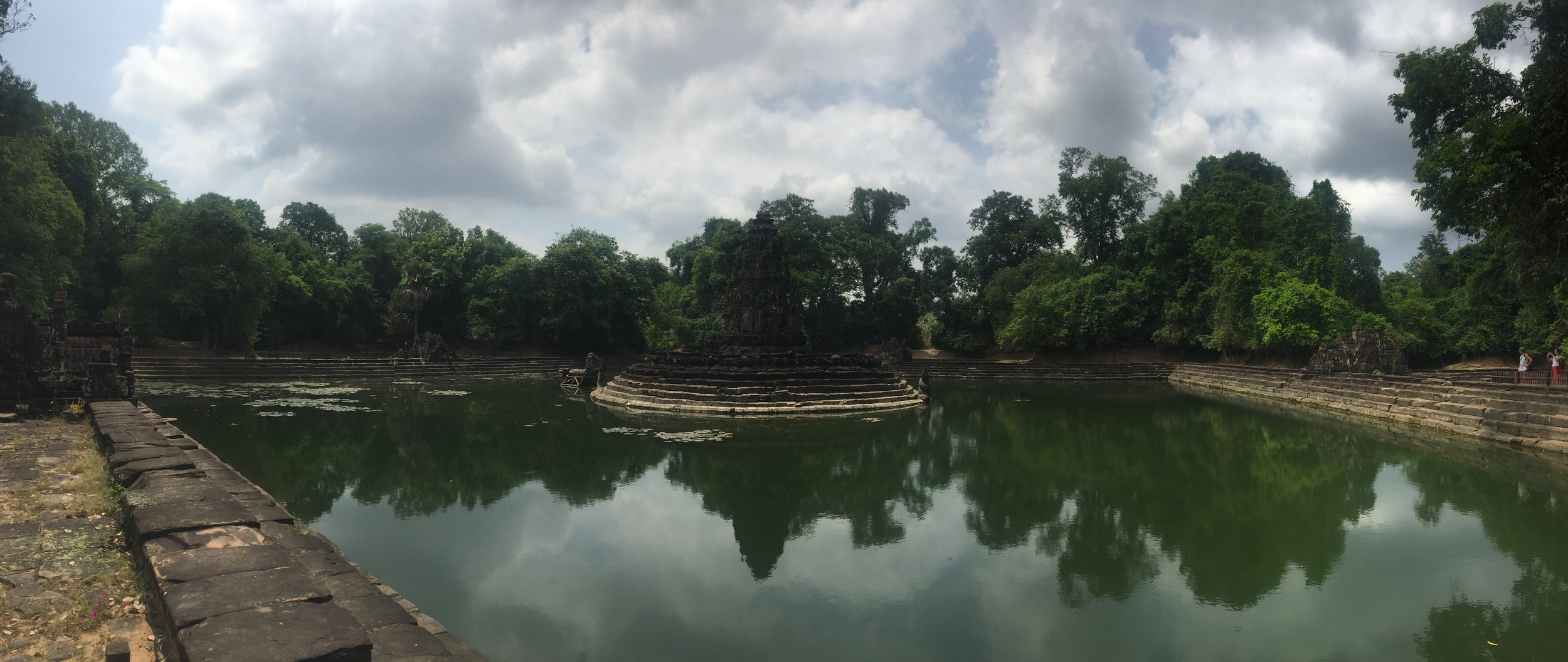 Neak Pean - 12th Century AD Buddhist temple built a top an artificial island.