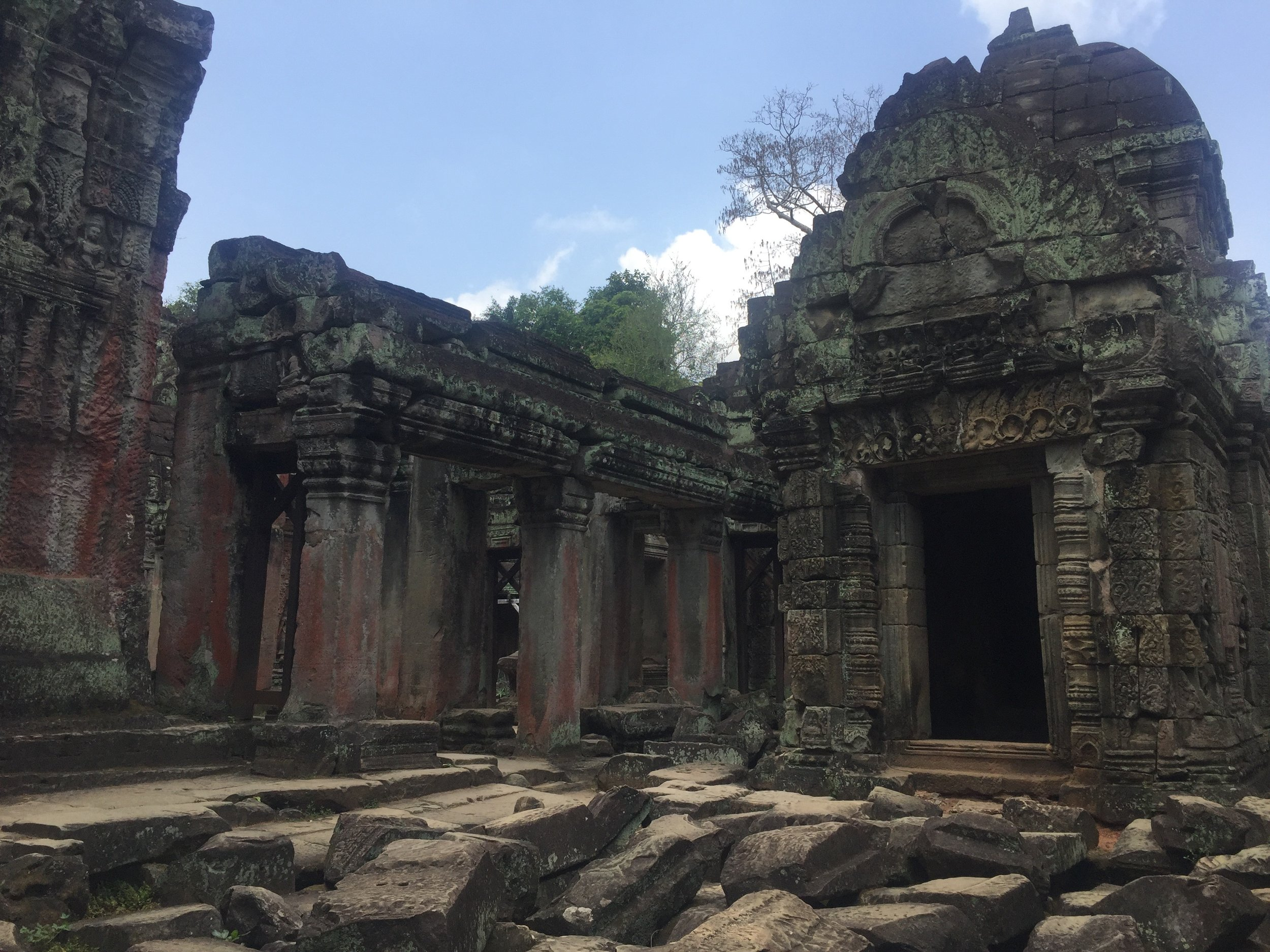 Preah Khan - 12th Century AD is a fusion temple of Buddhism and Hinduism built by King Jayavarman VII.