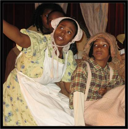 sEBRENA MASON AND TERREL hARVEY - Original cast of henry box brown (youth production) NYC