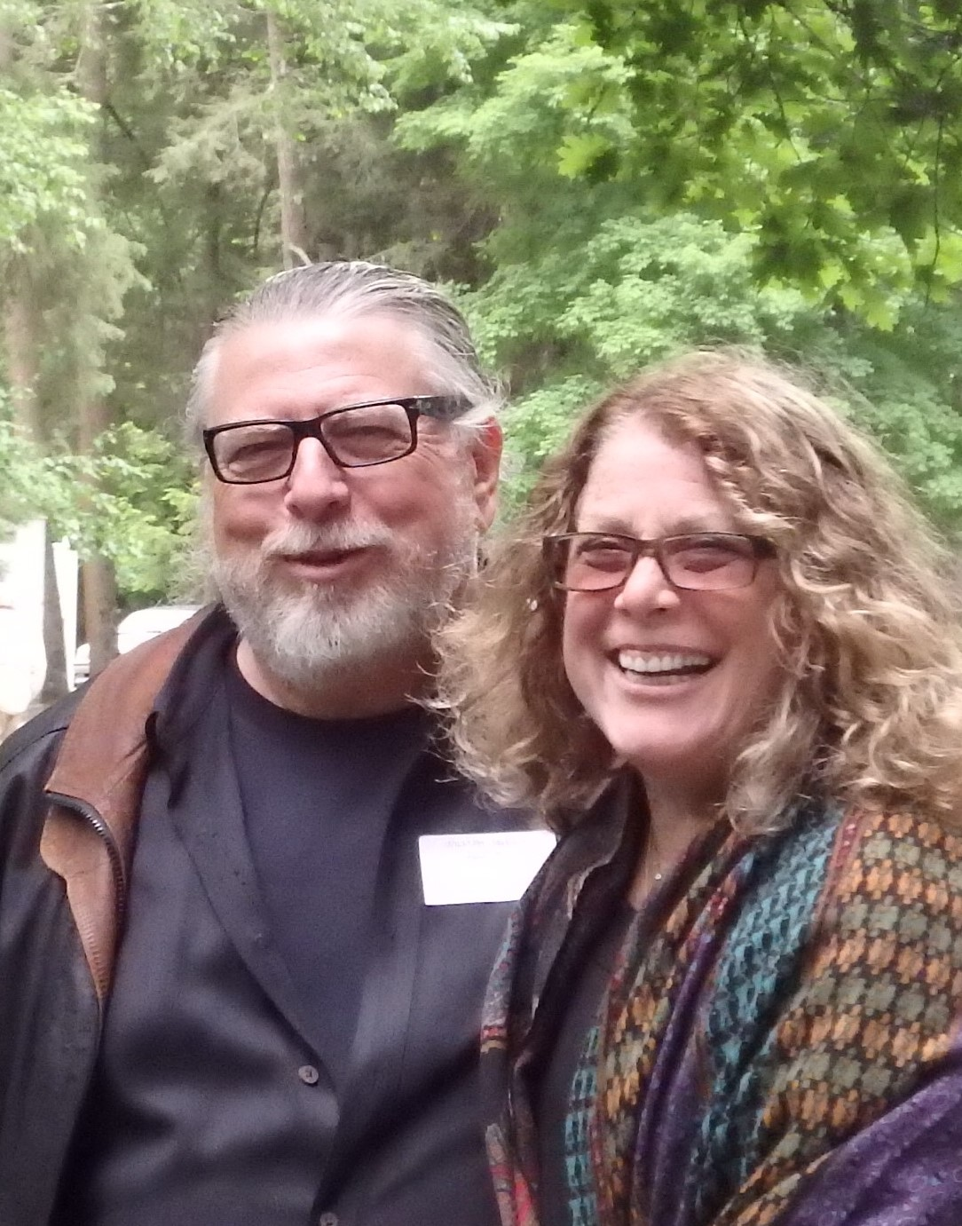 Bill and his wife Linda Simon (a painter) - The Mount, Lenox, MA 2016