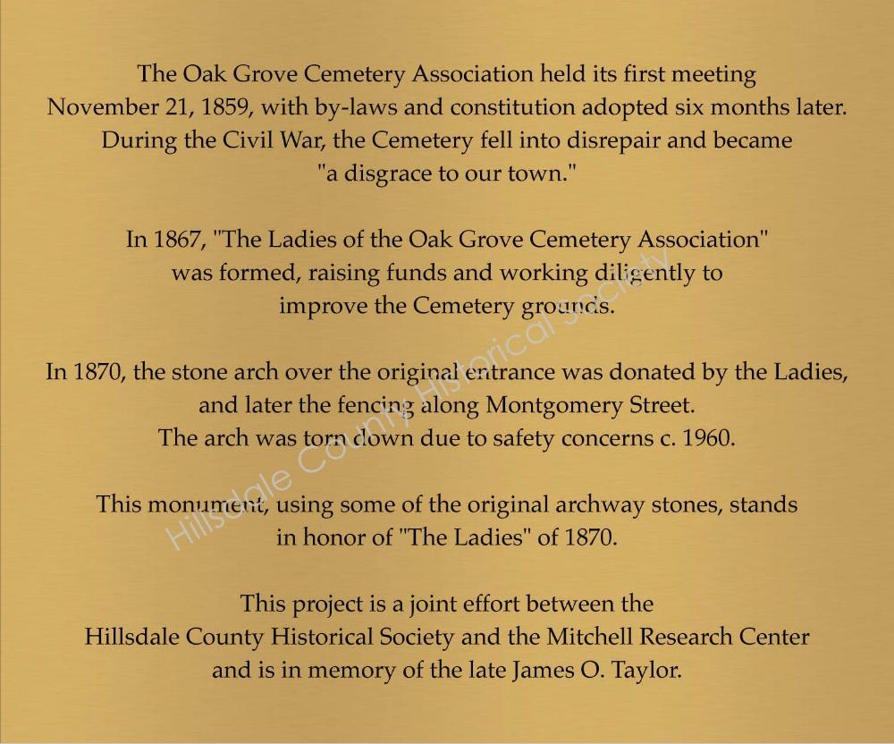 Plaque on Memorial