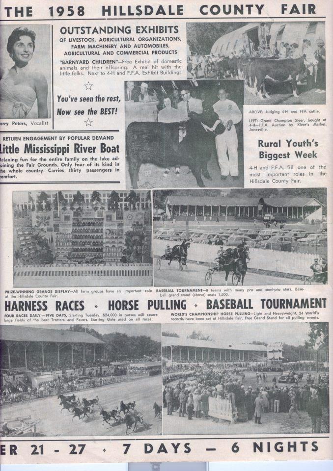 1958 Fair Schedule