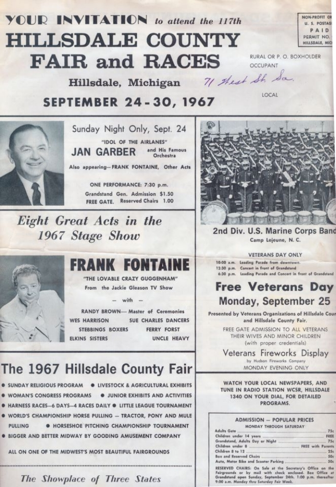 1967 Fair Entertainment